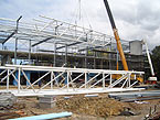 C&V Engineering Services successfully installs spectacular architectural steel trusses at Concord Library and Childcare Centre Sydney